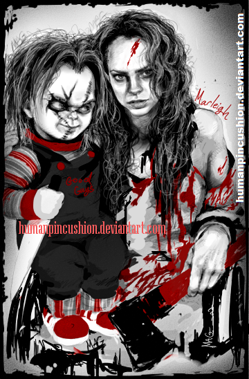 Curse of Chucky - Nica and Chucky by HumanPinCushion