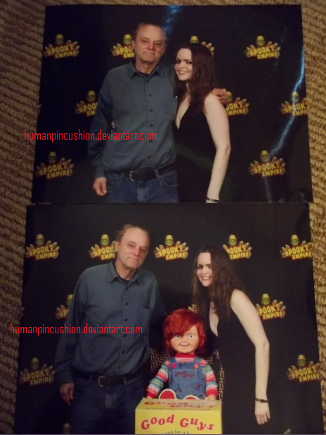 Brad Dourif and I at Spooky Empire by HumanPinCushion