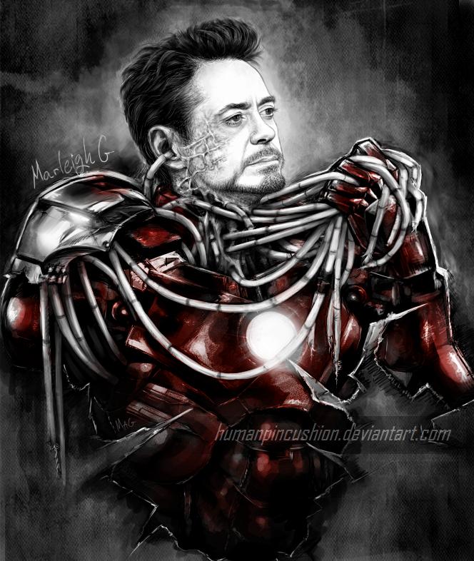 Iron Man/Tony Stark by HumanPinCushion
