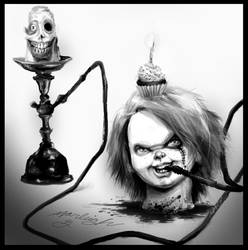 Hookah Decapitated Chucky Cupcake Thing