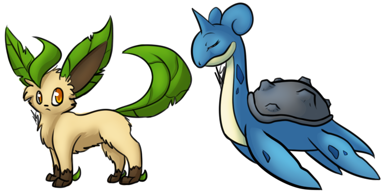 two more random pokemon c: by BlackMew13