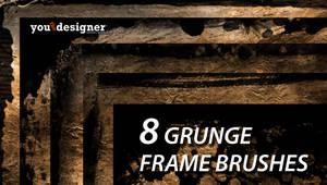 8 Grunge Frames Photoshop Brushes