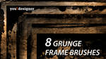 8 Grunge Frames Photoshop Brushes