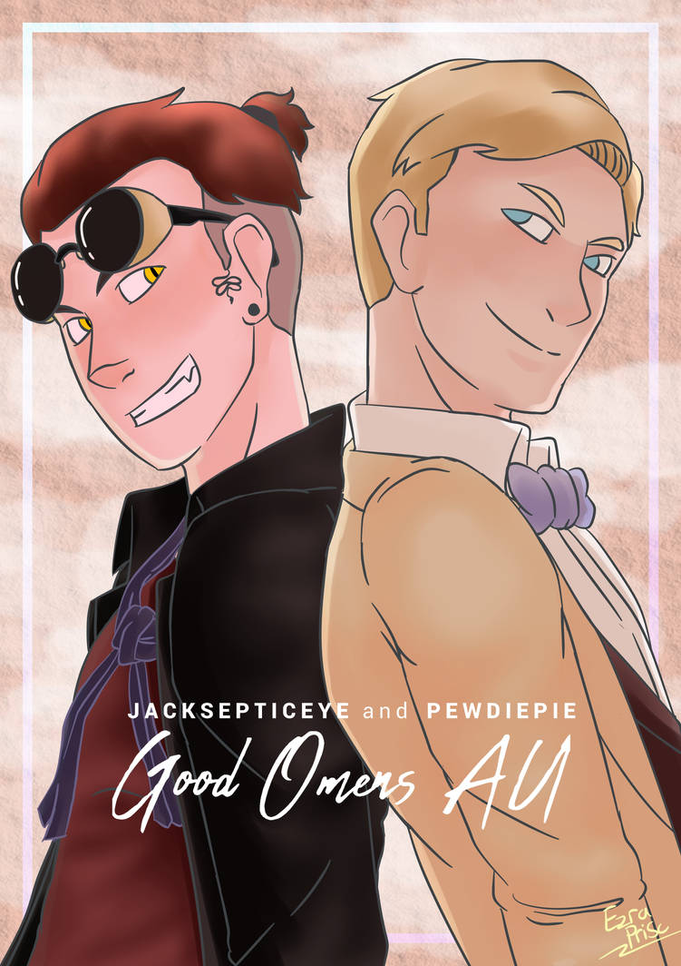 Jack and Pewds as Crowley and Aziraphale