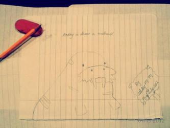 Today I Drew A Walrus. by ElectricMayhem1