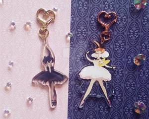 Princess Kraehe + Princess Tutu Key chains