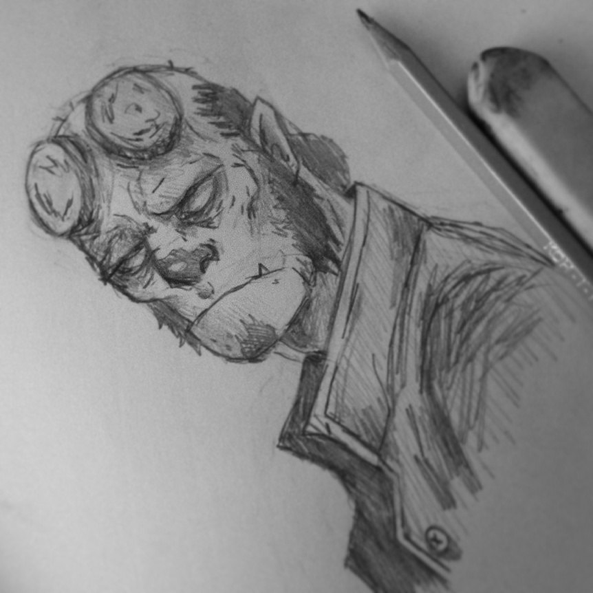 Hellboy by theCHANGA
