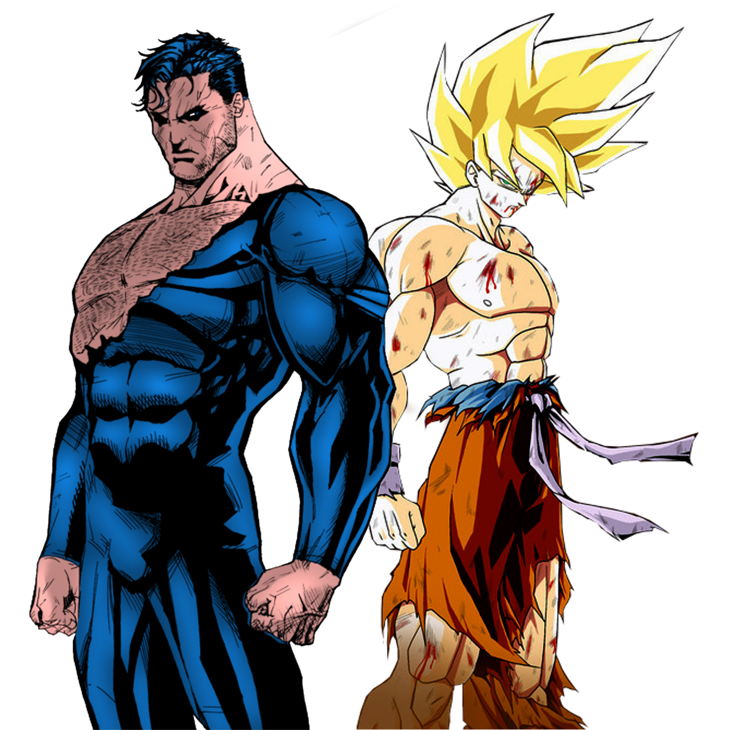Goku vs Superman by JayC79 on DeviantArt