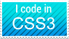 Stamp - I code in CSS3 by GlitchyPSIX