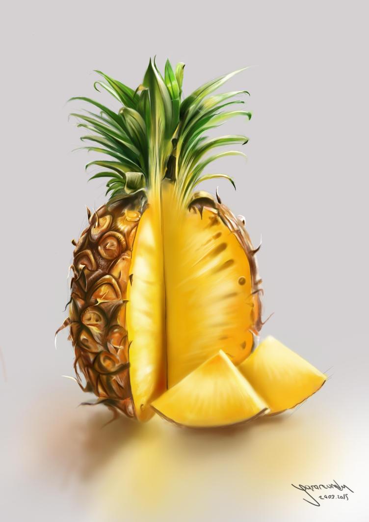 pineapple painting. Pineapple Painting :) By VurdeM N