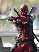 Deadpool Movie - Fanart Digital painting by vurdeM
