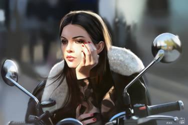 Kendall Jenner photostudy / digitalpainting by vurdeM