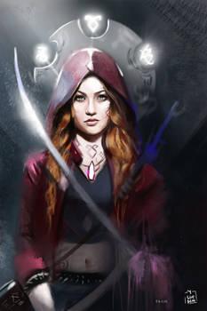 ShadowHunters -  Clary Fray Illustration  / L Hunt
