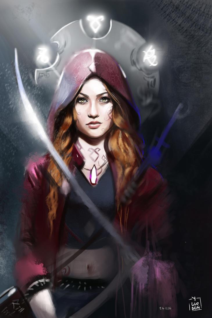 ShadowHunters - Clary Fray Illustration / L Hunt by vurdeM ...
