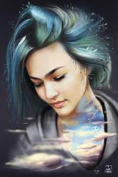 Asami Zdrenka Illustration - Sky by vurdeM