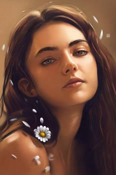 Amelia Zadro and daisy