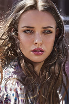 Katherine Langford Illustration Feelings