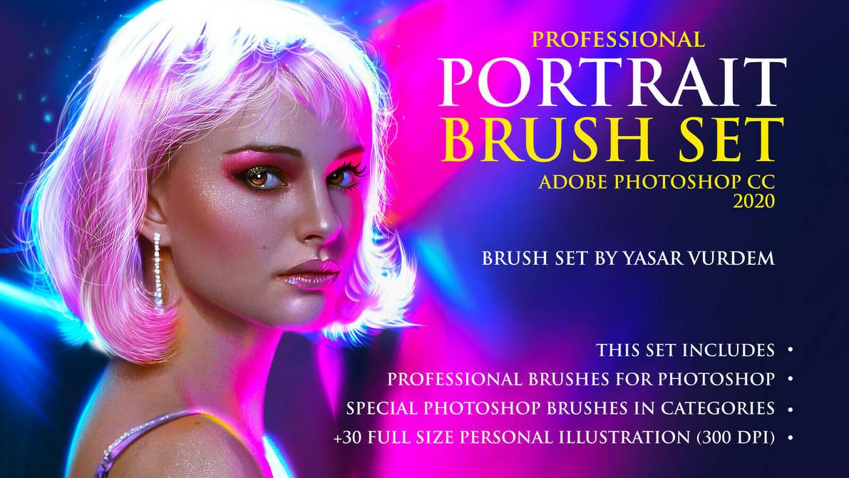Portrait Brushes for Photoshop