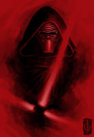 Fast drawing - Kylo Ren by thegameworld