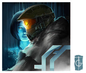 Master Chief and Cortana by thegameworld