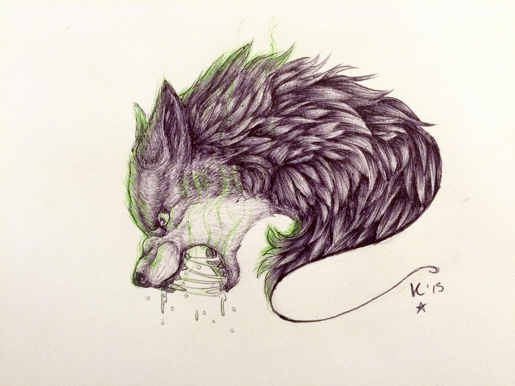 angry wolf tattoo by vivvi viola on deviantart. Black Bedroom Furniture Sets. Home Design Ideas