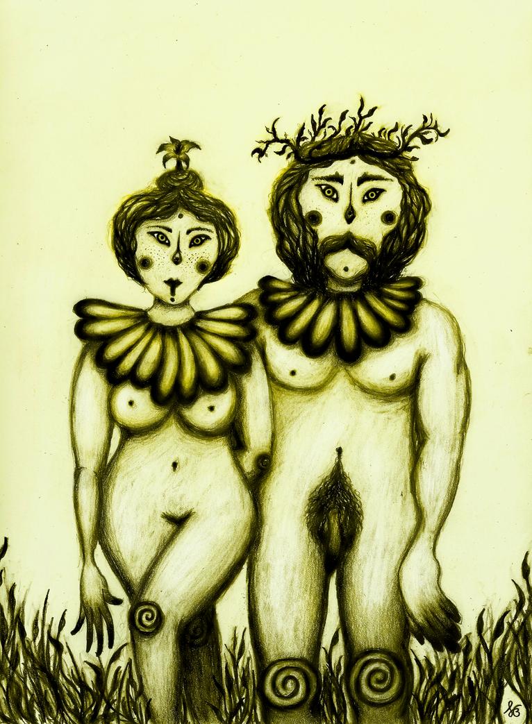 Portrait of a Troll Couple by Figren