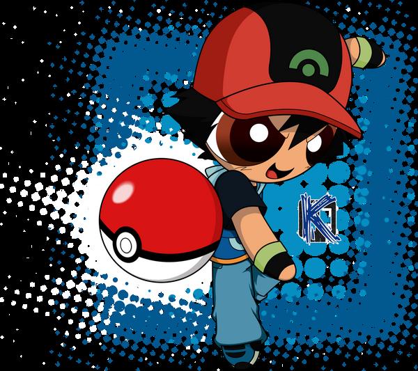 Ash Ketchum - Powerpuff style by Komal08731