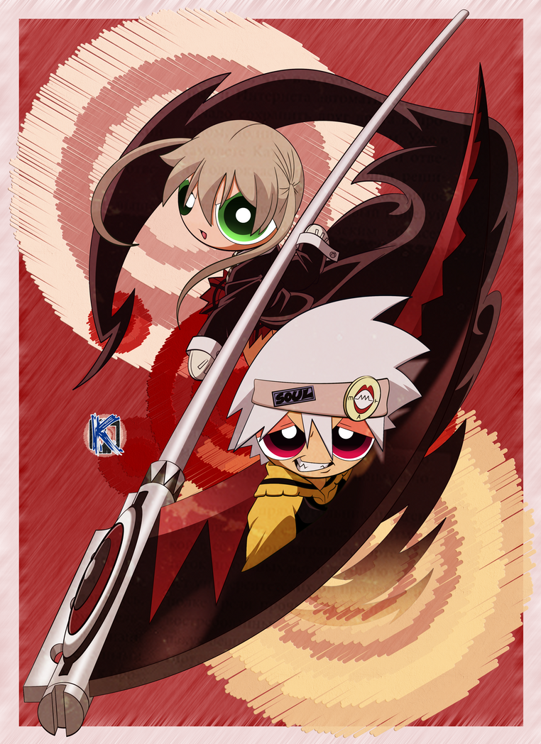 Soul Eater and Maka: PPG Version by Komal08731