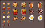 FOOD PIXEL ART ICONS