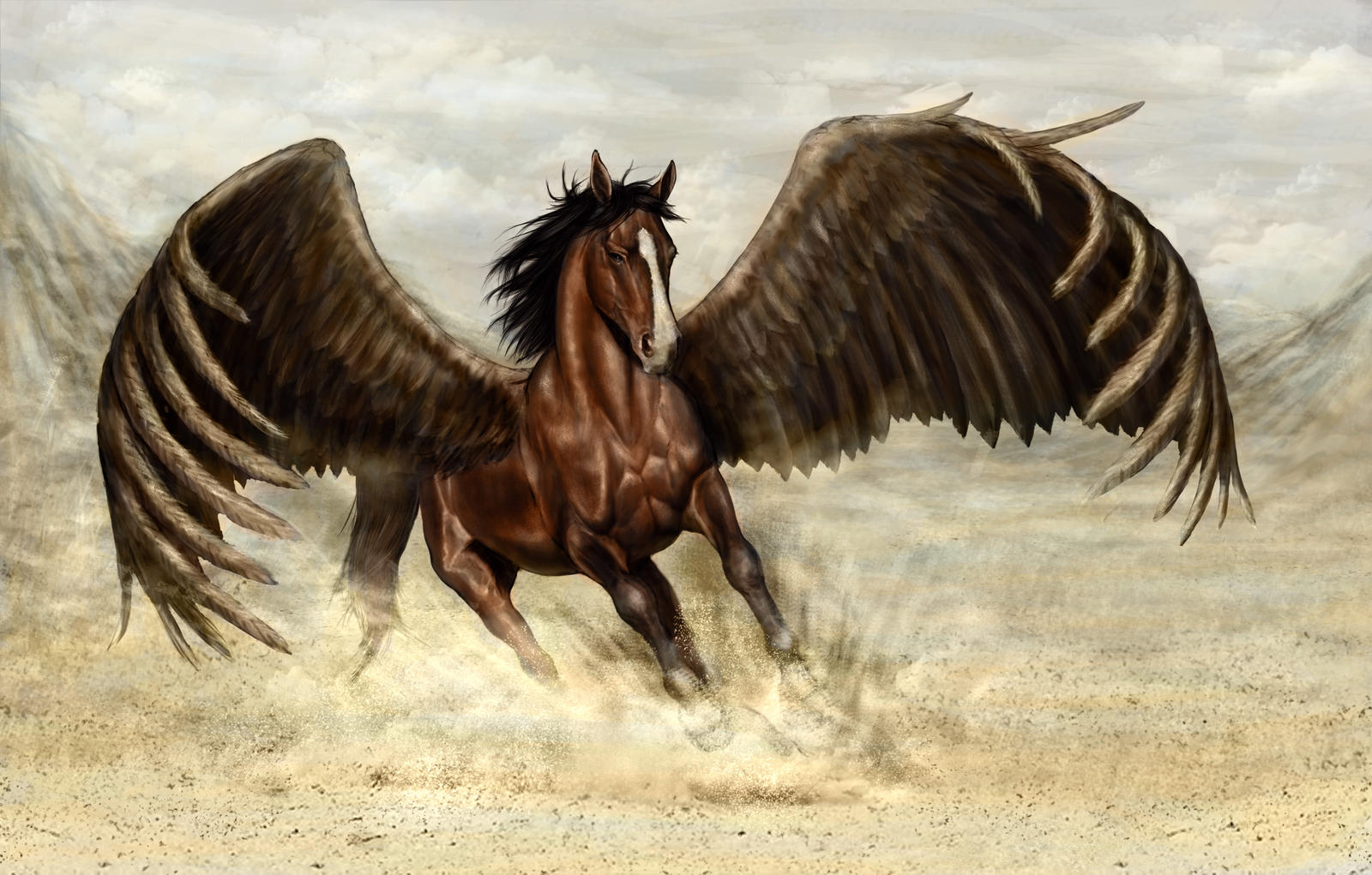 Horse with wings by DaniloLatino