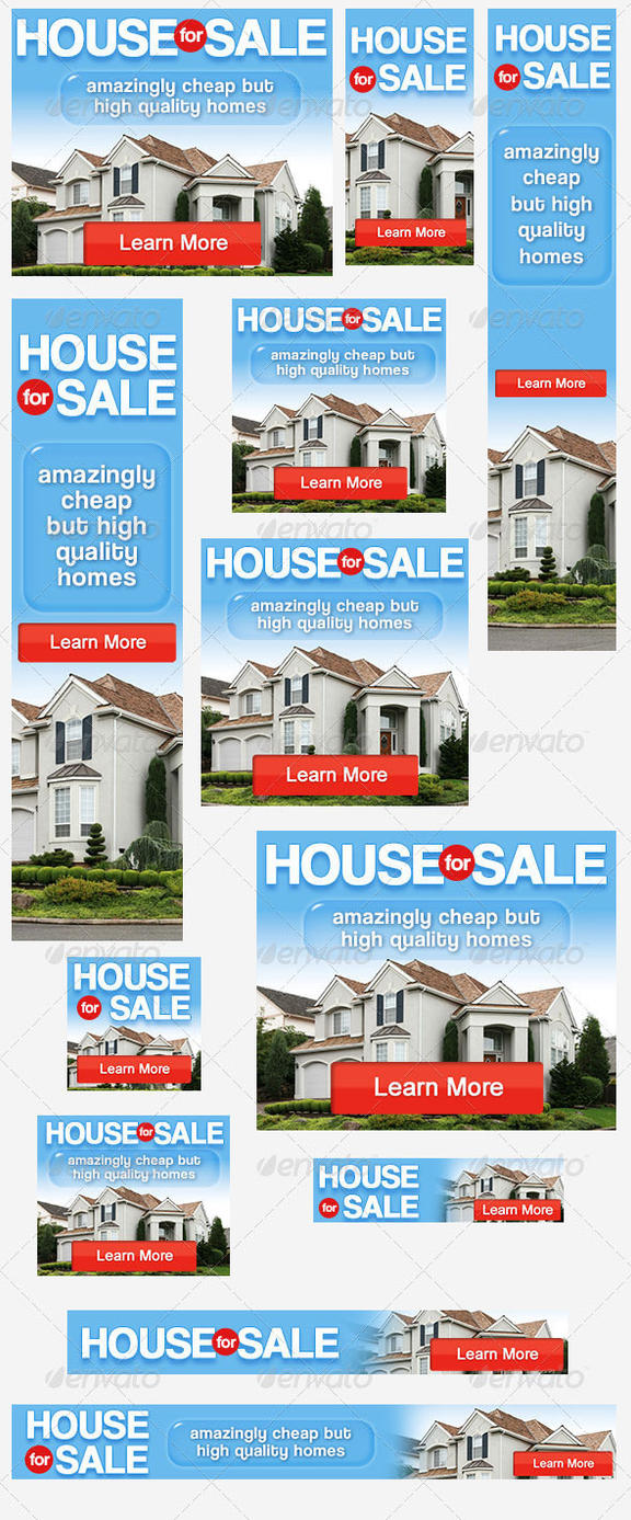 House For Sale Banner Ad PSD Template By Admiraladictus ...  For Sale Ad Template