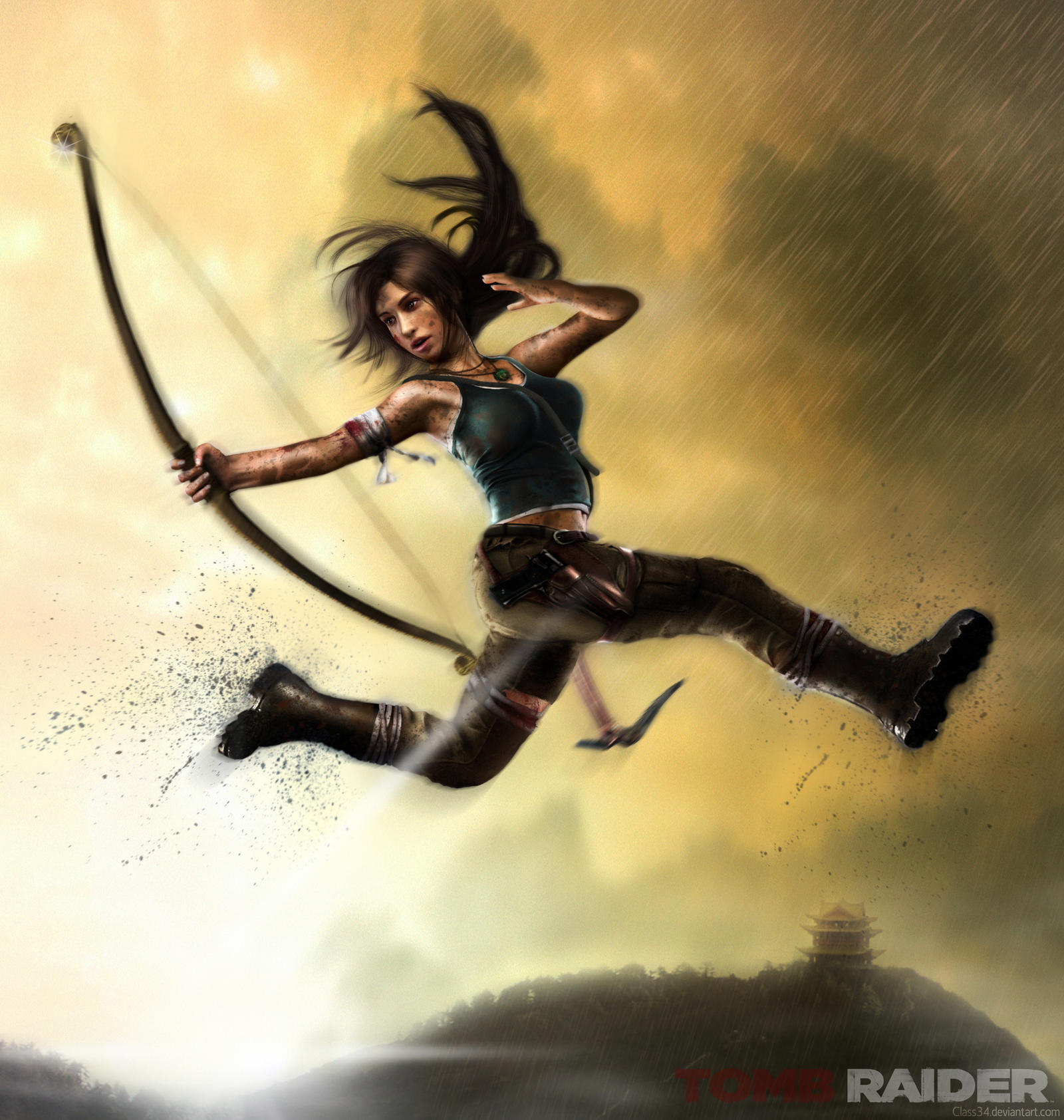 REBORN LARA: TRICK SHOT - Tomb Raider 2013 by Eddy-Shinjuku