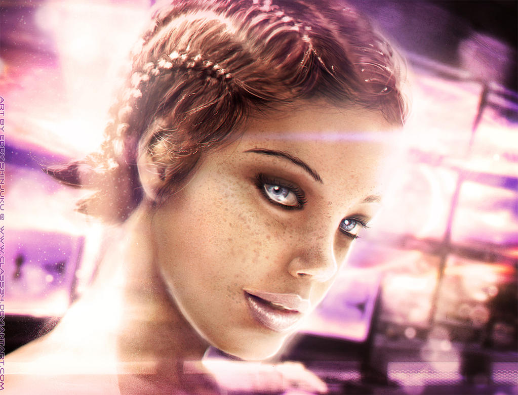 HUMAN LIARA: Mass Effect Character Impressionism by Eddy-Shinjuku