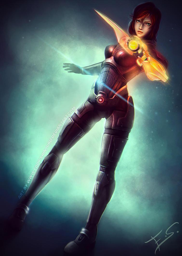 Commander Shepard Bishoujo - Mass Effect by Eddy-Shinjuku