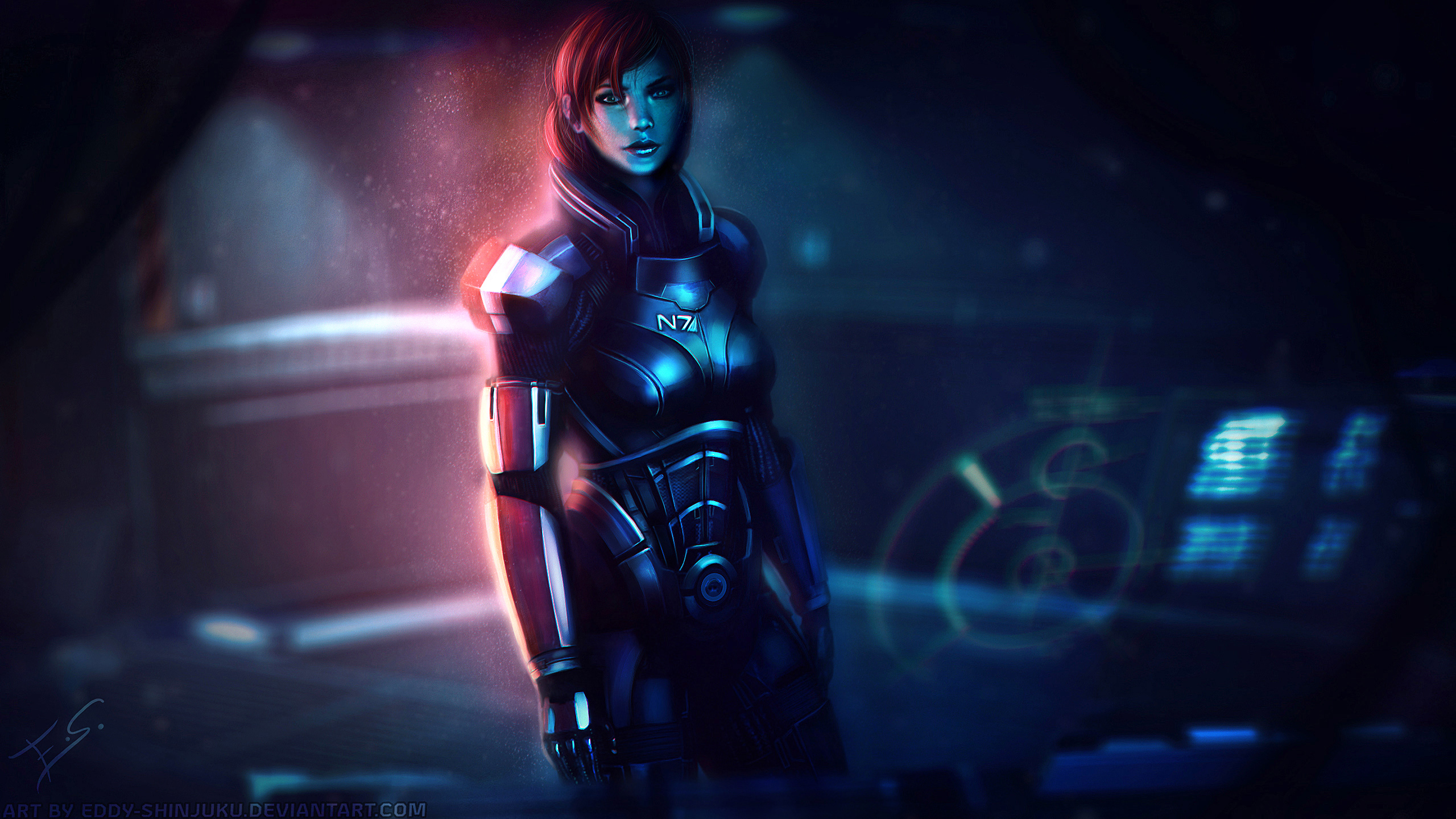 N7: Lady in Red - Mass Effect 3 by Eddy-Shinjuku
