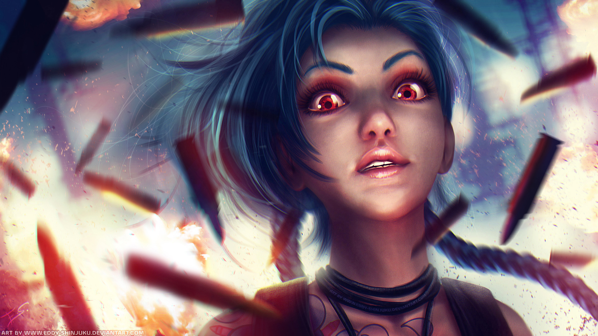 JiNX: Bang Bang Galore - League of Legends by Eddy-Shinjuku