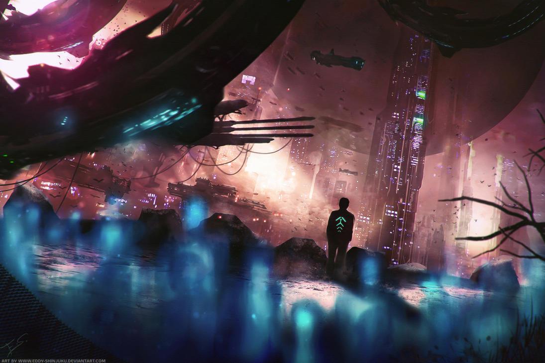 Sci-fi Novel 'Evolution' Concept Art by Eddy-Shinjuku