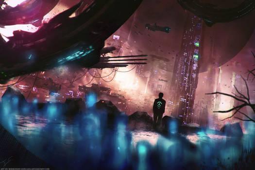 Sci-fi Novel 'Evolution' Concept Art