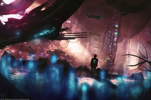 Sci-fi Novel 'Evolution' Concept Art