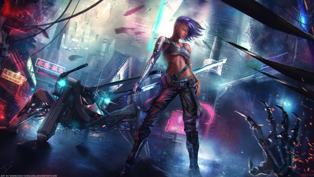 Cyberpunk - Bailey Bright Eyes Full Art