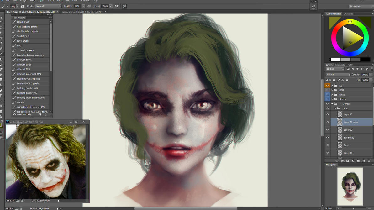 Stylize Semi-realism Face Painting Guide WIP by Eddy-Shinjuku