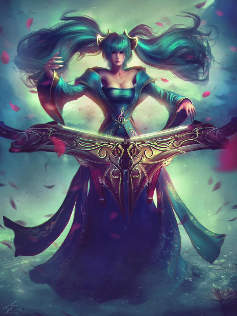 League of Legends: Sona Website Art by Eddy-Shinjuku