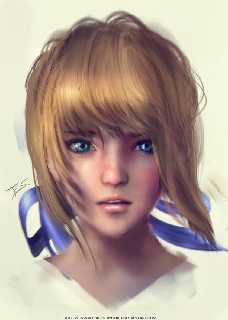 Saber - Fate Stay Night (Quick Portrait) by Eddy-Shinjuku