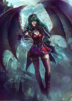 Vampiress Queen Evelyn - OC Commission