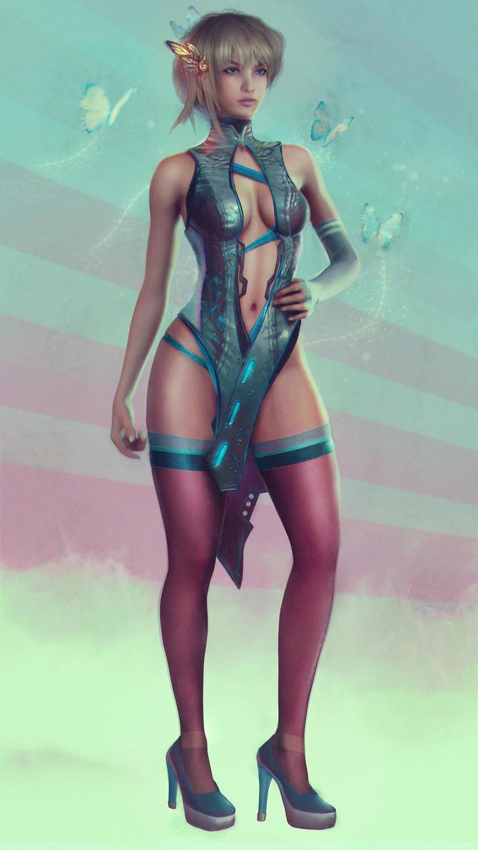 2077: Lynn O'hara - Bonus Outfit by Eddy-Shinjuku