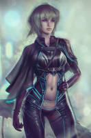 Futuristic Cyberpunk OC - Lynn O'Hara Portrait by Eddy-Shinjuku