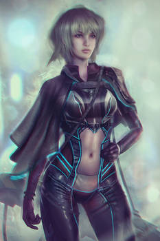 Futuristic Cyberpunk OC - Lynn O'Hara Portrait
