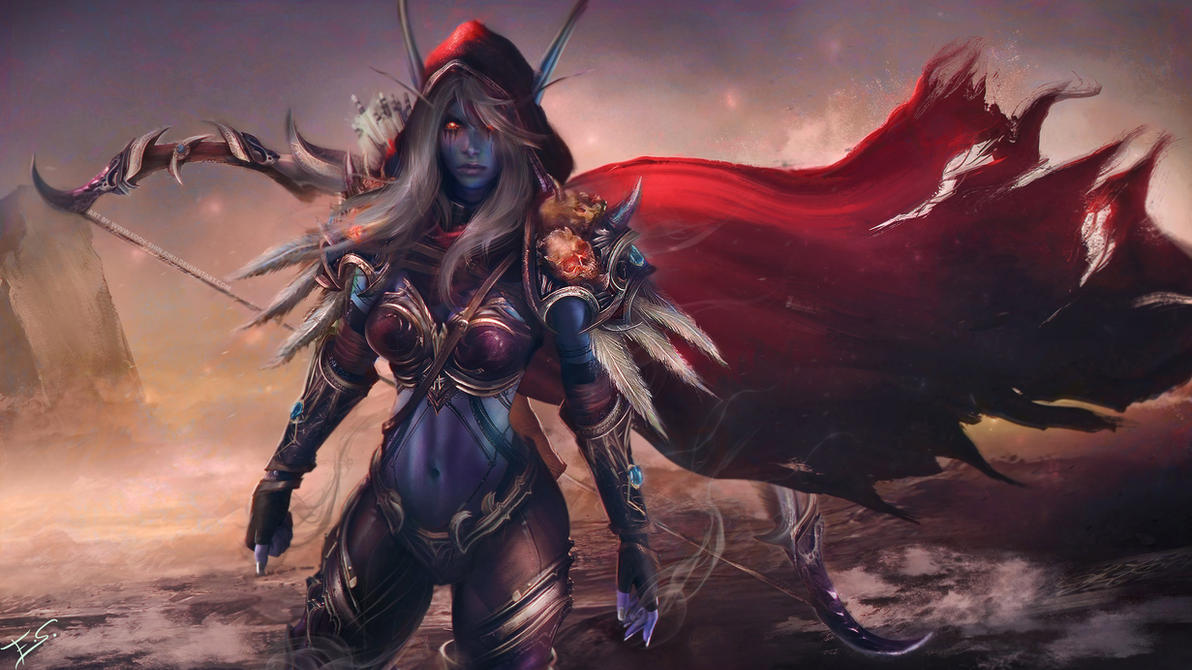Sylvanas Windrunner - Warcraft Wallpaper Art by Eddy-Shinjuku