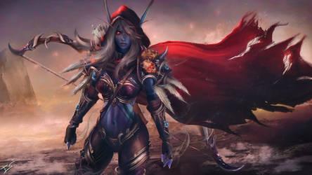 Sylvanas Windrunner - Warcraft Wallpaper Art by Eddy-Shinjuku