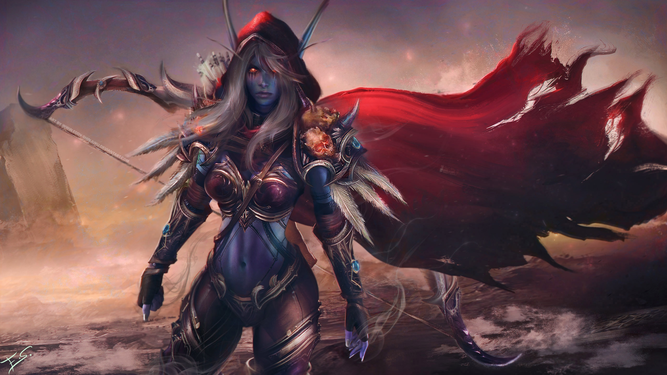 Sylvanas Windrunner Warcraft Wallpaper Art By Eddy Shinjuku On Deviantart